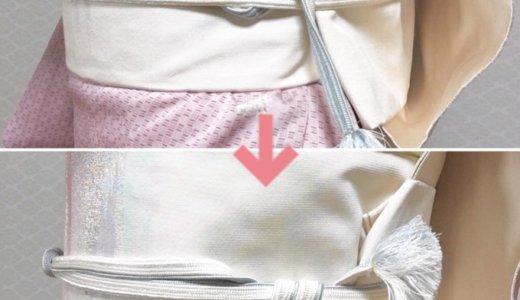 並尺の帯締めでも長すぎて帯の中に房が半分以上入るくらい余るのですが、どう処理したらいいでしょか?